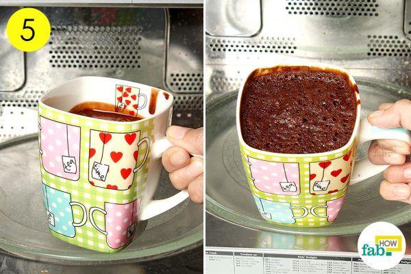 mug cake in 5 mins