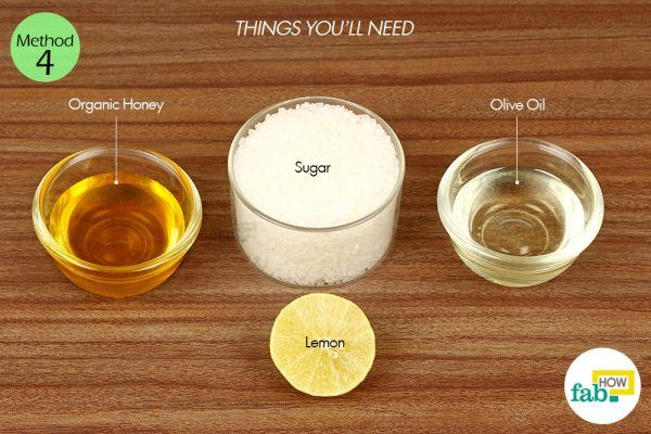 sugar and lemon for large pores