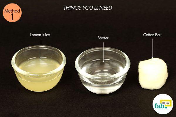 lemon to get rid of oily skin