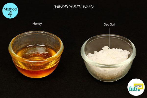 honey and sea salt for oily skin