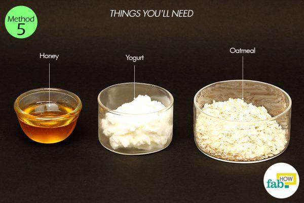 yogurt, oatmeal and honey for oily skin