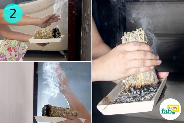 smudging to get rid of negative eneregy