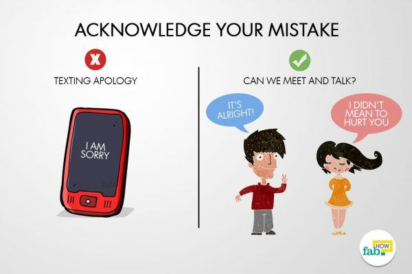 acknowledge your mistakes