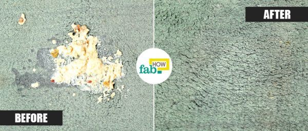 get vomit stains out of carpet before after