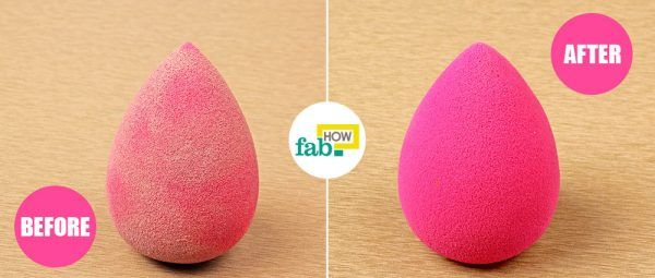 beauty blender cleaning beforeafter