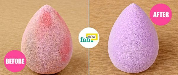 clean beautyblender beforeafter