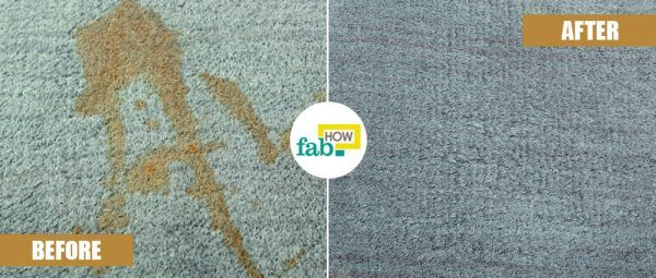 remove coffee stain from carpet before after