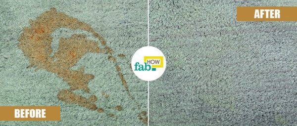 remove coffee stain fromc arpet using baking soda before after
