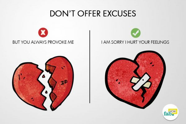 donot offer excuses sincere apology