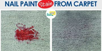 nail paint stain on carpet