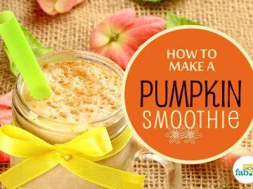 how to make pumpkin smoothie