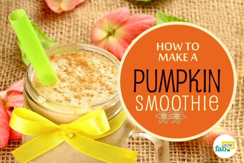 how to make pumpkin smoothie