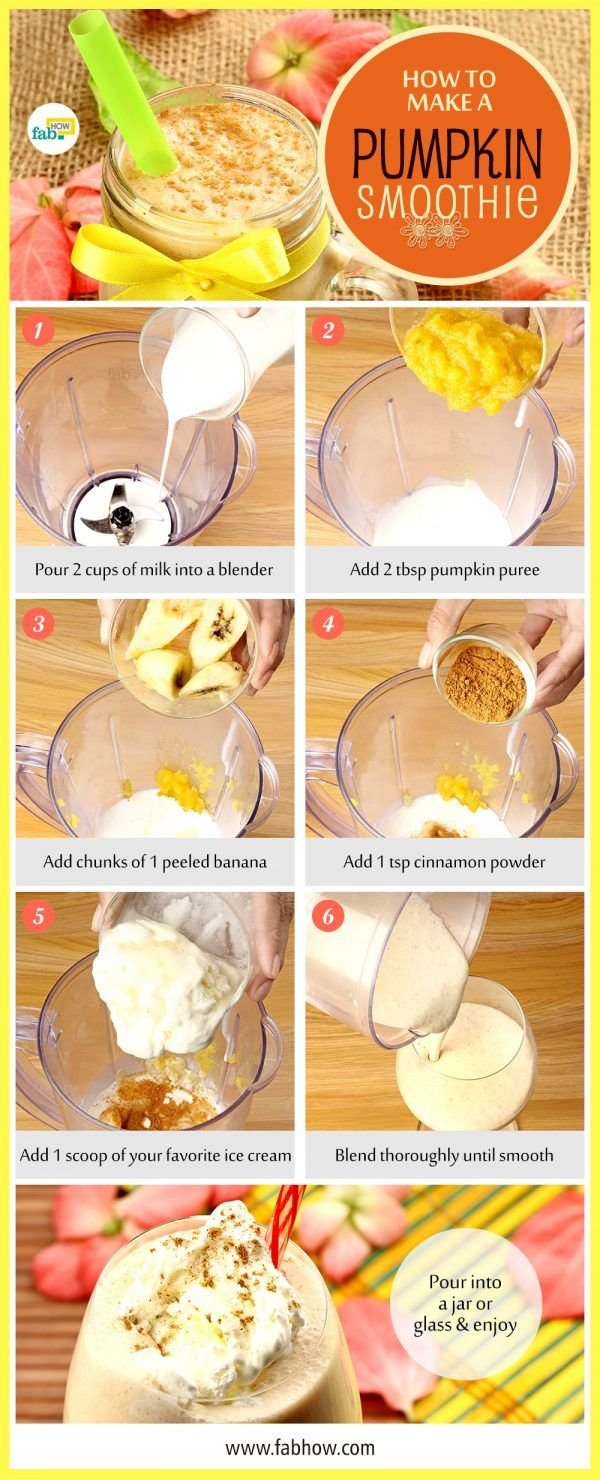 make a pumpkin smoothie