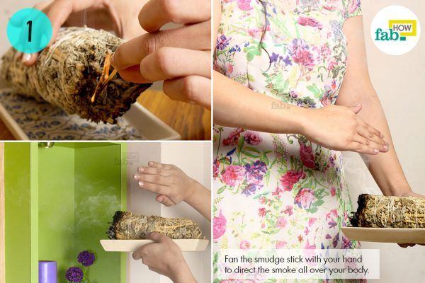 smudging to get rid of negative energy