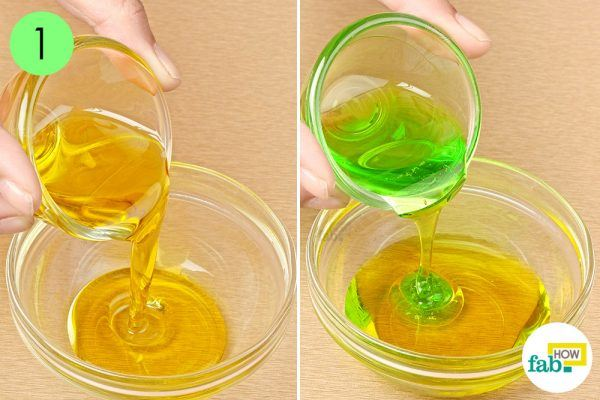 mix olive oil and dish soap to clean beauty blender sponge