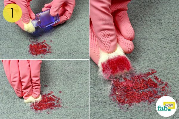 remove excess nail paint to clean carpet