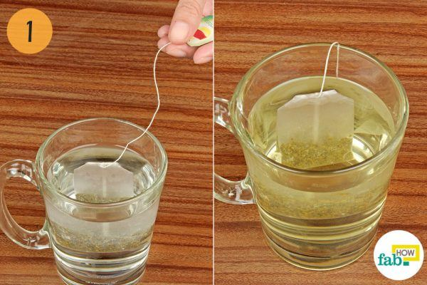 steep tea for blotchy skin