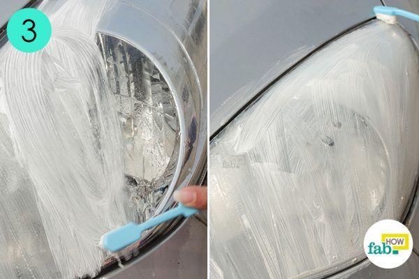 rub toothpaste to clean car headlight
