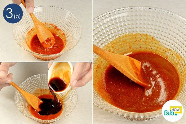mix the sauces together
