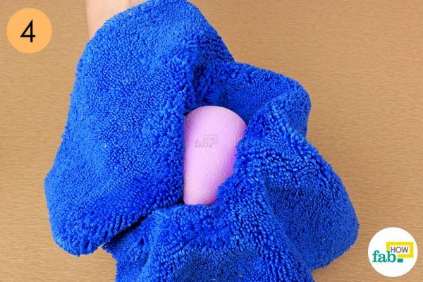 pat dry with soft towel clean beauty blender