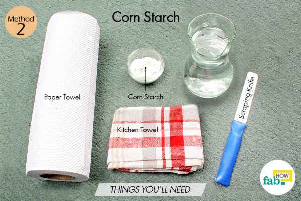 corn starch for cold sore things need