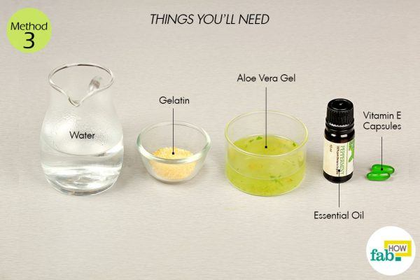 DIY aloe vera hair gel things need