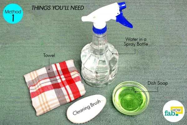 dish soap to remove coffee stains from carpet things need
