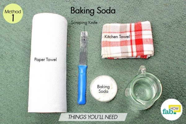 baking soda to get vomit stains off carpet things need