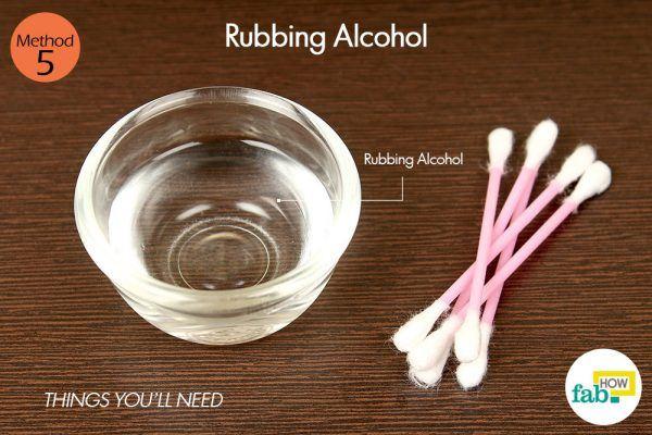 rubbing alcohol for cold sore