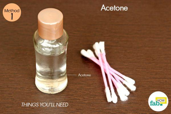 get rid of cold sores with acetone things need