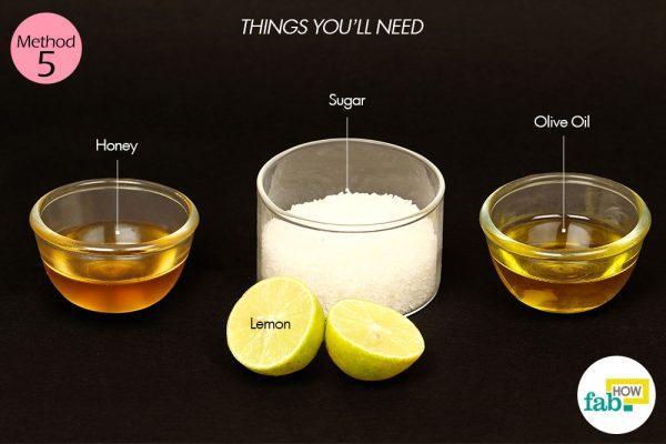 lemon sugar scrub for dry skin things need