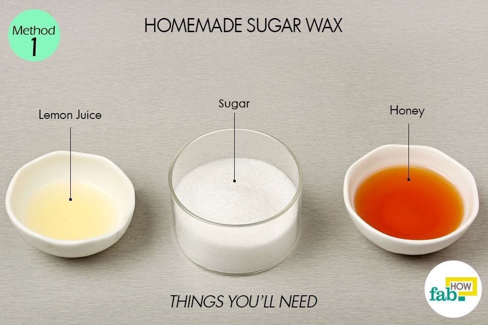 Items needed for homemade sugar wax