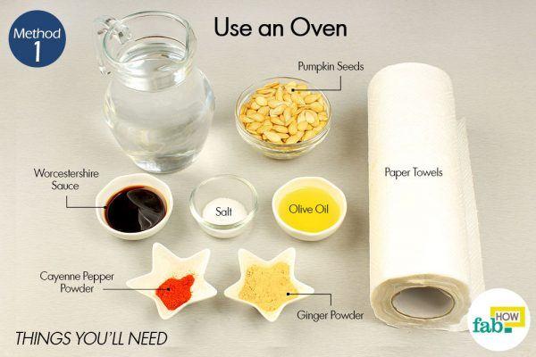 roast pumpkin seeds using an oven things need