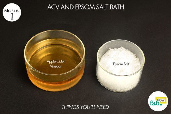 acv ad epsom salt bath for yeast infection