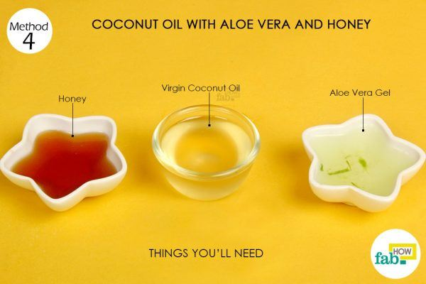 coconut oil, aloe vera, honey on acne things need