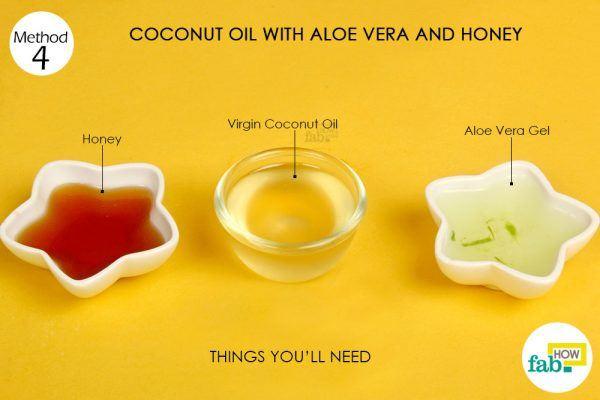 coconut oil, aloe vera, honey on acne things need