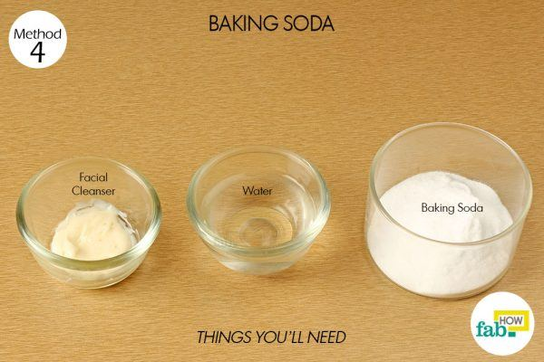 baking soda scrub to exfoliate