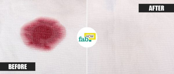 club soda to remove red wine stain from cloth