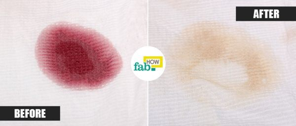 remove red wine stain with baking soda