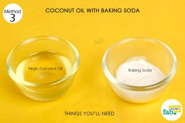 coconut oil and baking soda for acne things need