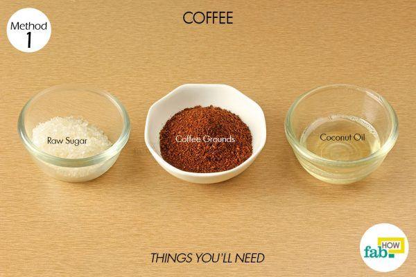 coffee scrub to exfoliate your skin
