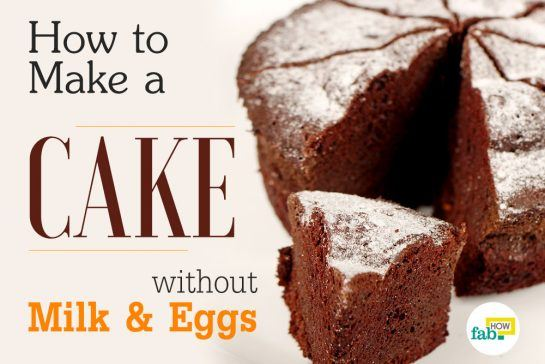 how to make a cake without eggs