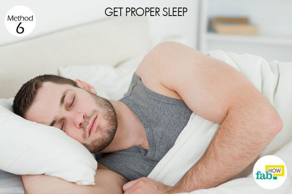get proper sleep to get rid of hangover