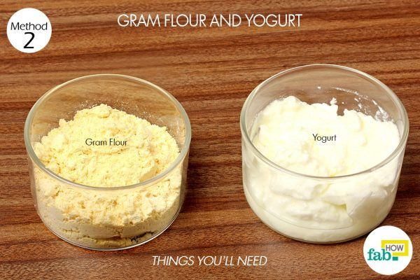 gram flour and yogurt paste to remove suntan things need