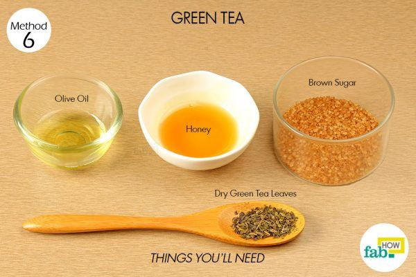 green tea to exfoliate your skin