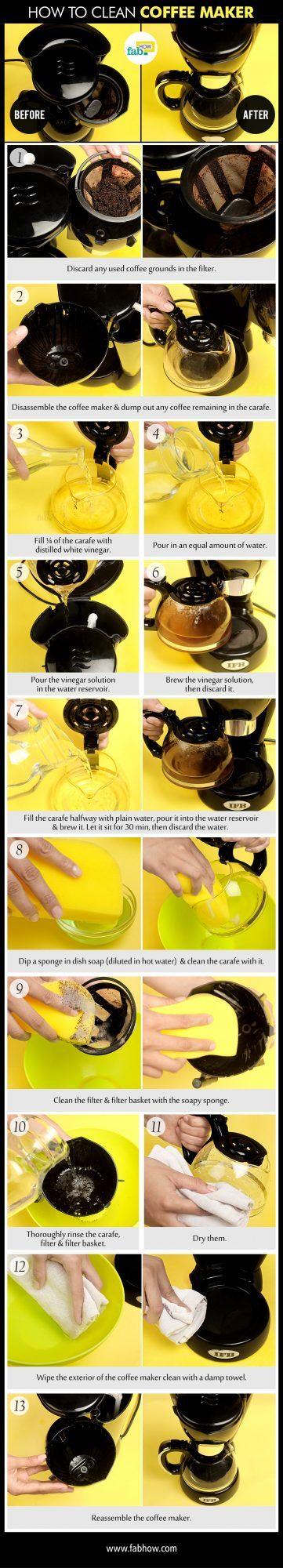 clean a coffeemaker