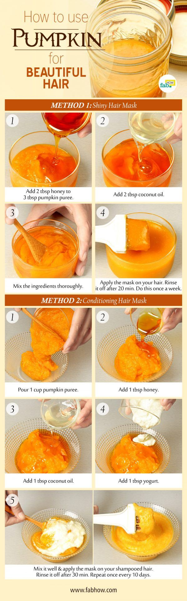 use pumpkin for beautiful hair