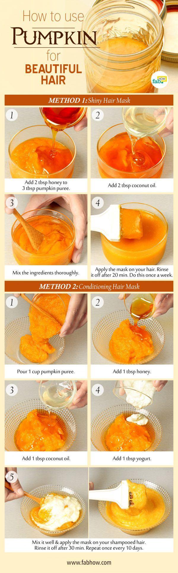 use pumpkin for beautiful hair