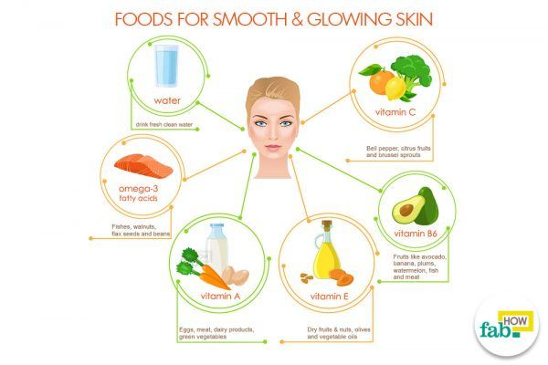 foods for smooth and glowing skin