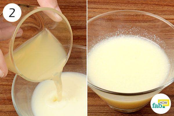 mix honey, lemona nd milk paste on suntan